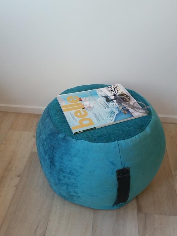 Super Turquoise Velvet Ottoman Pouf Turquoise Pouffe Round Pouf Beanbag Pouf Beanbag Ottoman Aquamarine Floor Cushion Teal Pouf Teal Decor Lamtechconsult Wood Chair Design Ideas Lamtechconsultcom