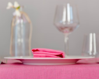 Napkins Set Pink-  Set 2 napkins -linen for the table - Summer table - Chic Table Decor- Customize your  tablecloth