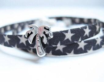 Wrap bracelet-asterisk, bracelet, fabric bracelet, gifts, women