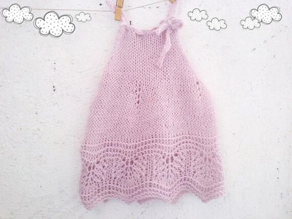 125 Pdf Knit Pattern For Baby Dress Knitting Pattern Baby Girl Etsy
