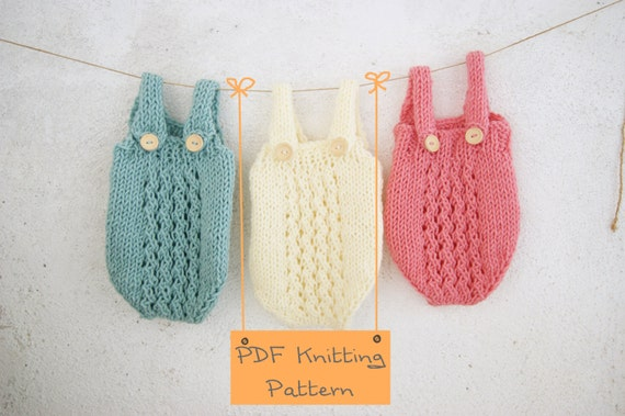 121 Pdf Knitting Pattern Baby Romper Newborn Knitting Etsy