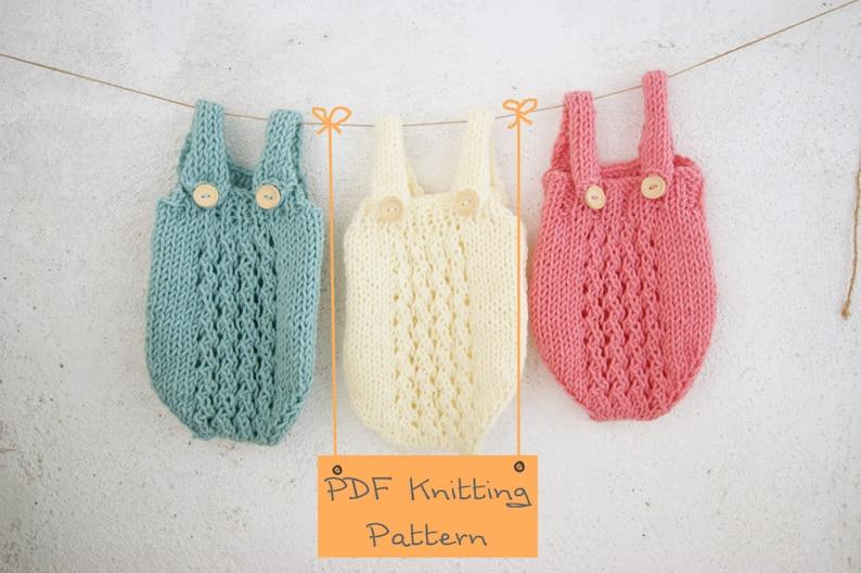 121 Pdf Knitting Pattern Baby Romper Newborn Knitting Etsy