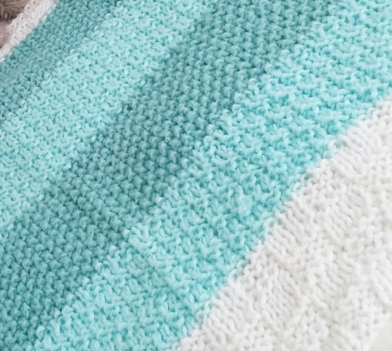 124 PDF Knitting Pattern / Easy Baby Blanket Knitting Pattern | Etsy