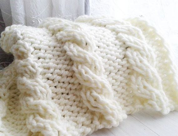Pdf 115 Knitting Pattern Cable Mini Blanket Instant Download Etsy