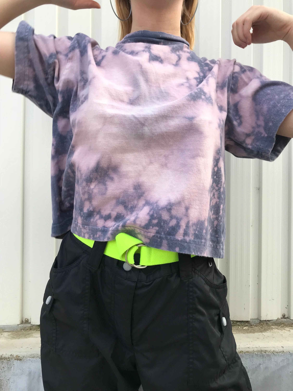 be939ba1bec TRIPPY ACID WASHED Cropped T-Shirt