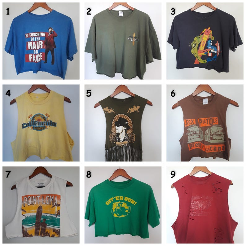 875c7d75a Crop tops graphic tee old T-shirt
