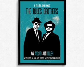 The Blues Brothers Poster Print Movie Quote - We're Putting The Band Back Together - Art Print, Multiple Sizes - 8x10 to 24x36 - Minimal