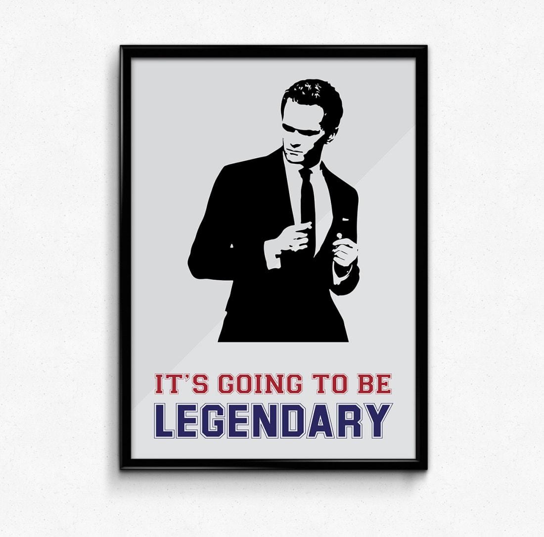 Barney Stinson Poster wie ich traf Ihre Mutter es wird zu   Etsy