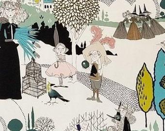 Alexander Henry Folklorico 8423A Tea Santos  Cotton Fabric BTY