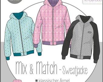 Pattern Mix & Match Kids Size 86 - 164 Sweat Jacket