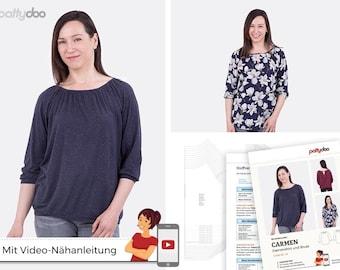 Sewing Pattern Carmen Women's Shirt + Blouse by pattydoo