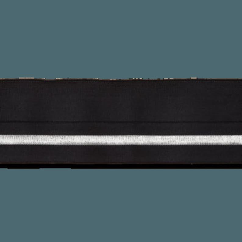 Barrel belt elastic 38 mm black silver folding rubber