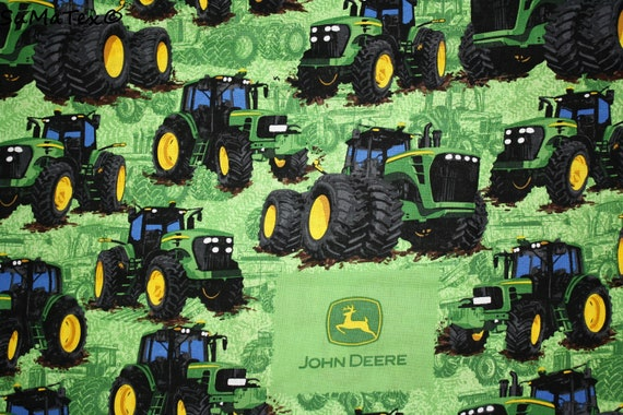 baumwolle john deere trecker traktoren etsy. Black Bedroom Furniture Sets. Home Design Ideas