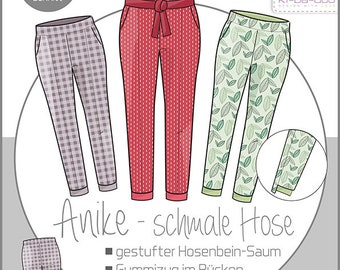 Sewing pattern trousers narrow Anike Gr. 32 - 44