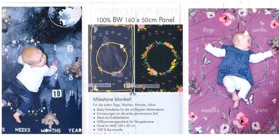 Baumwoll Satin Baby Geburtsdecke Anzeige Astro Panel