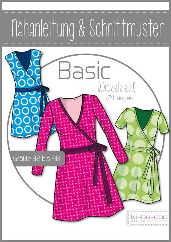 Schnittmuster/pattern Kleid Wickelkleid Gr 32 48   Etsy
