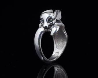Fennec Fox Ring, sterling silver, handmade ... fennec ring