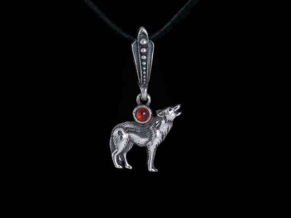 Femmes//Hommes Vintage Howling Wolf Pendentif Réglable Chaîne Or//Argent Collier