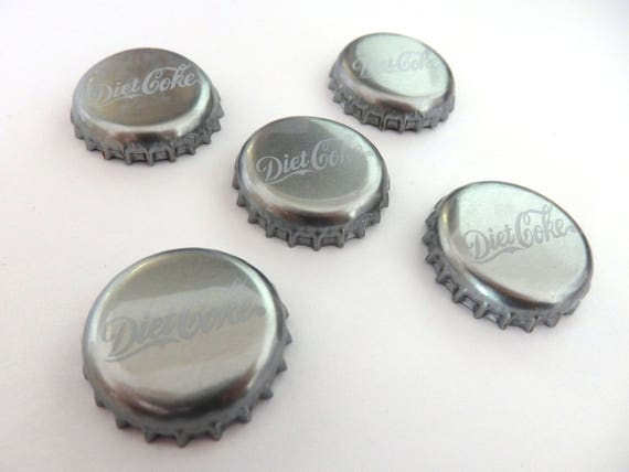 23e879381a Magnets. Diet Coke Bottle Tops Set of 5 Repurposed And