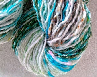 Striped yarn socks Kit with gradient colors. 100g