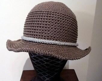 Cappello donna estivo - cappelli donna estivi lino - cappellini fatti a  mano - cappello modello panama donna - cappellino uncinetto sole 31eed2e3286a