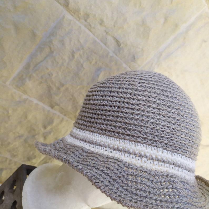 Summer women/'s hats crochet model panama