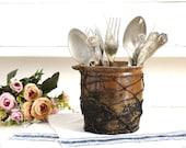 Antique Wired Pottery Confit Pot Crock Pot Jar Stoneware Pot Glazed Rustic Jar Earthenware Vase Ironstone Plant Pot Planter Farmhouse Decor