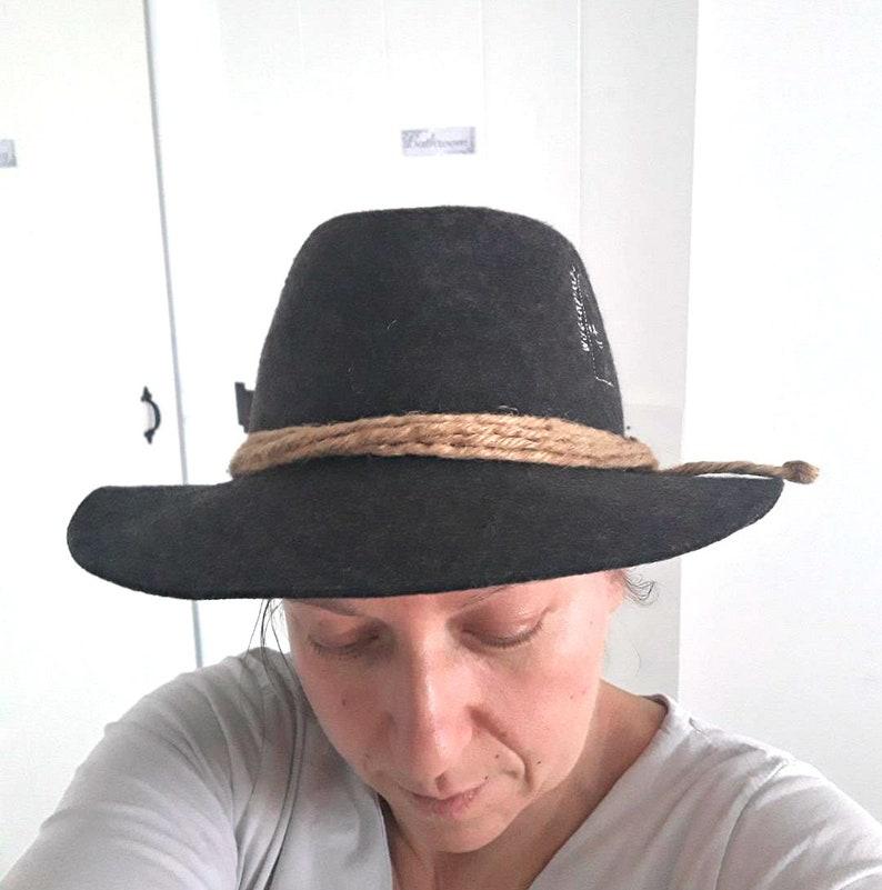 d3d68443360 Italian Alpine Wide Brim Fedora Hat Wool Felt Vintage Trilby