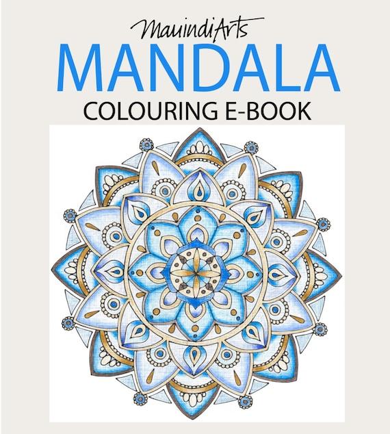 EBOOK 15 diseños de Mandala dibujado a mano colorante | Etsy