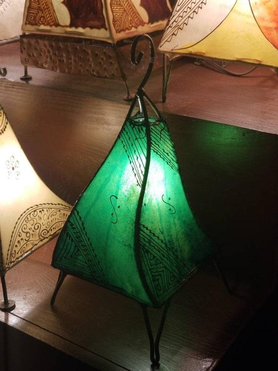 14 Peau De Chevre Marocain Vert Emeraude Lampe De Etsy
