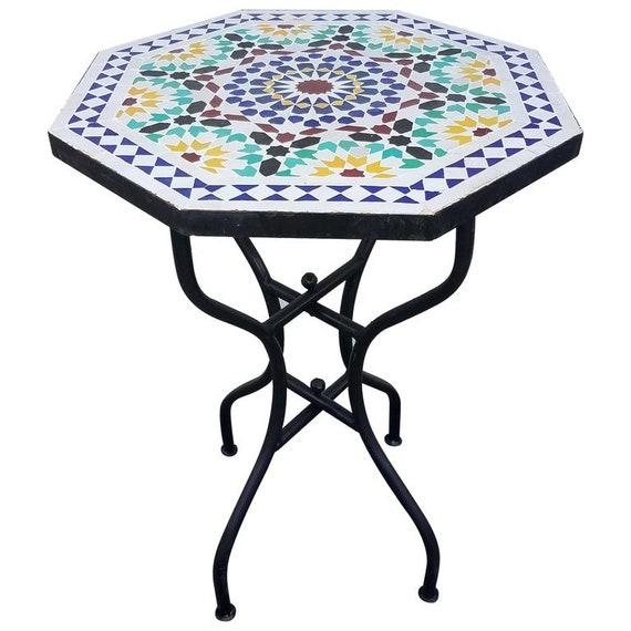table de mosa que marocaine de forme octogonale etsy. Black Bedroom Furniture Sets. Home Design Ideas