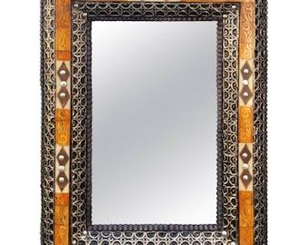 Mandarin Camel Bone Mirror, Marrakech
