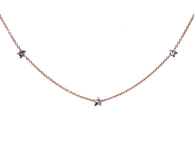 Rose gold and Diamond Starlight Necklace
