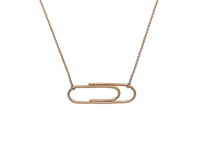 Rose Golden Paperclip Necklace