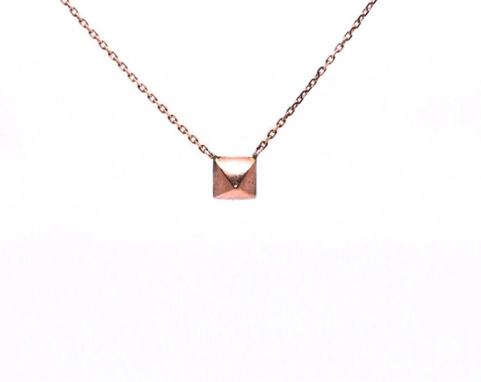 Rose Gold Pyramid Necklace