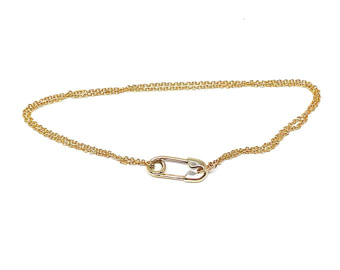 Gold Safety Pin Bracelet
