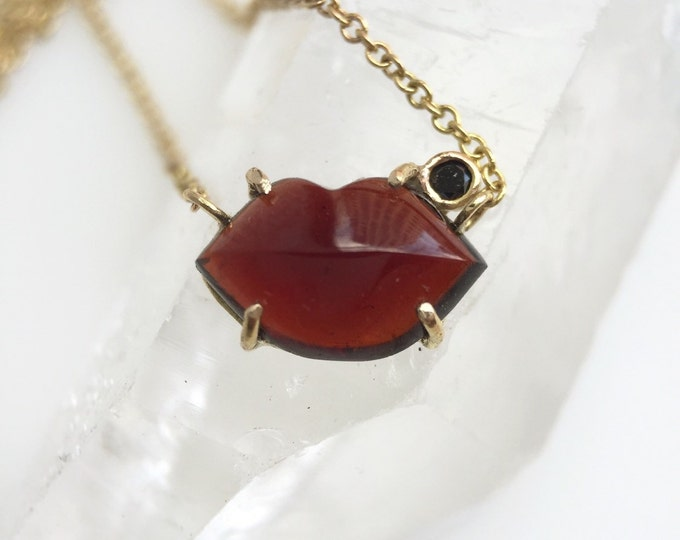 Limited Edition Gold Garnet and Diamond S.W.A.K Charm