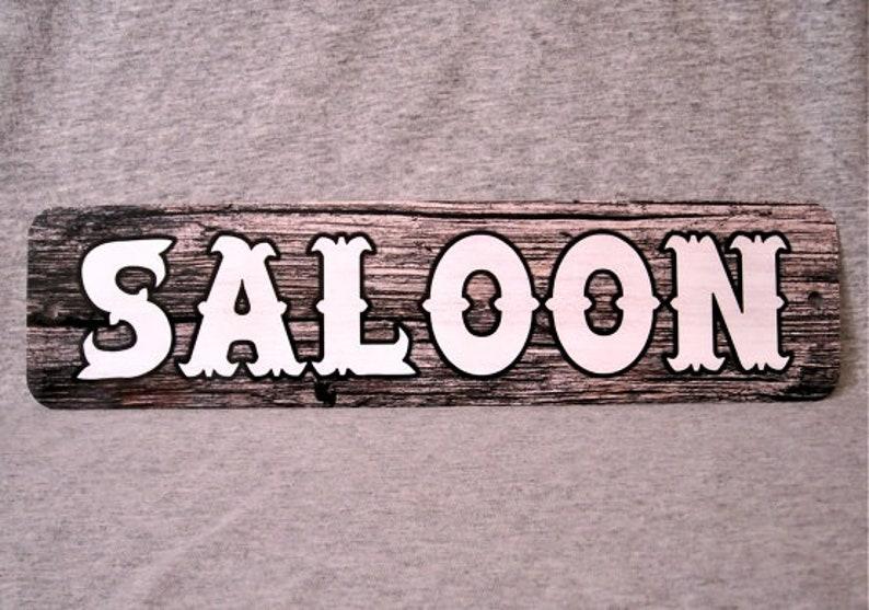 Wild West Cowboy Saloon Bar Vintage Style Retro Metal Sign Pub Sign Saloon Sign