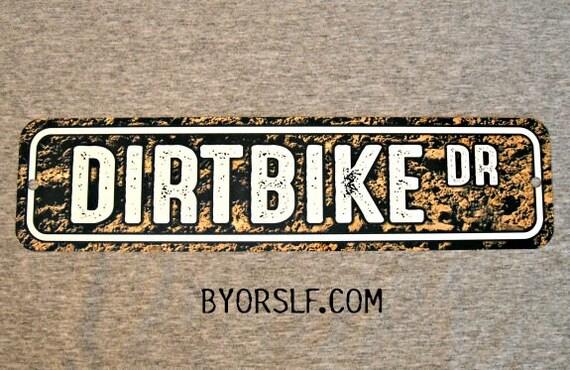 Indoor//Outdoor DIRTBIKE Street Sign motocross racer racing Decals BMX