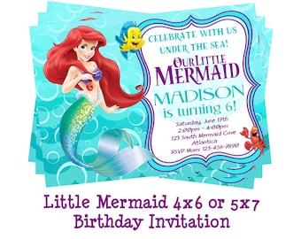 Disney Little Mermaid Invitation