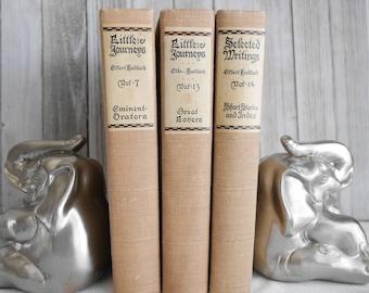 Elbert Hubbard, Little Journeys Hardback Books, Roycrofters Memorial Edition, Volumes 7, 13 & 14, Wm. L. Wise Publisher