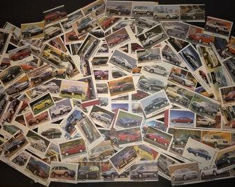 Lot de 150 mini images de voitures 1995-2002 pour collages ou scrapbooking.Lot of 150 mini images of 1995-2002 cars for collages .. etc