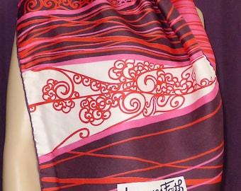 """Fabulous vintage scarf by designer Jacques Fath,Paris   45"""" x 16"""""""