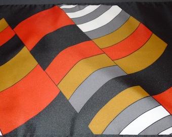 "Great vintage geometric design scarf  by Monique Martin  50"" x 11"""