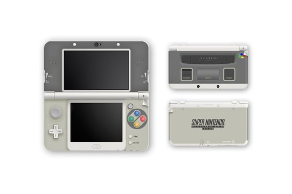 Super Nintendo | Super Famicom SNES Skin for New 3DS and New 3DS XL