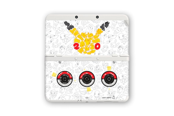 Pokémon 20th Anniversary Cover Decals for New 3DS and New 3DS XL