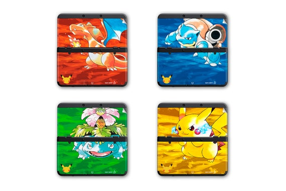 Pokémon Red, Blue, Green and Yellow New 3DS and New 3DS XL Skin