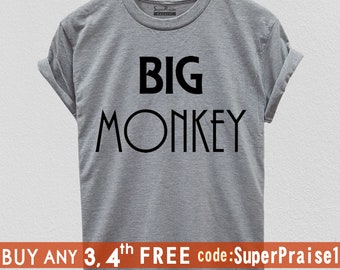 047735f1f Gym Shirts Fitness apparel Big Monkey T-Shirt Gym clothes Gym shirt men  Workout outfits Fitness Shirts gym shirts Fitness T-Shirt