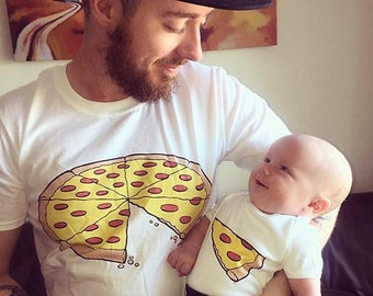 d1fd72747 Pizza Slice Dad Son Matching Shirts Daddy Daughter Baby Family Outfits  Funny 1 Slice Missing Awesome New Family Gift Pizza Shirt Best seller