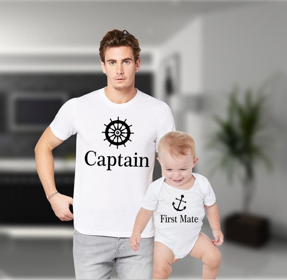 956e6337 Dad and Baby Shirts Daddy and Me Shirts Captain First Mate | Etsy